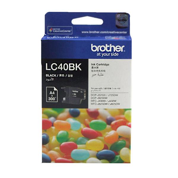 LC40BK brother 原廠墨水匣 MFC-J430W/MFC-J625DW / MFC-J825DW/MFC-6710DW / MFC-J6910DW/MFC-J5910DW