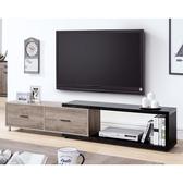 【森可家居】肯特古橡色4尺伸縮長櫃 9HY316-03 電視櫃 現代輕工業風 雙色 MIT台灣製造