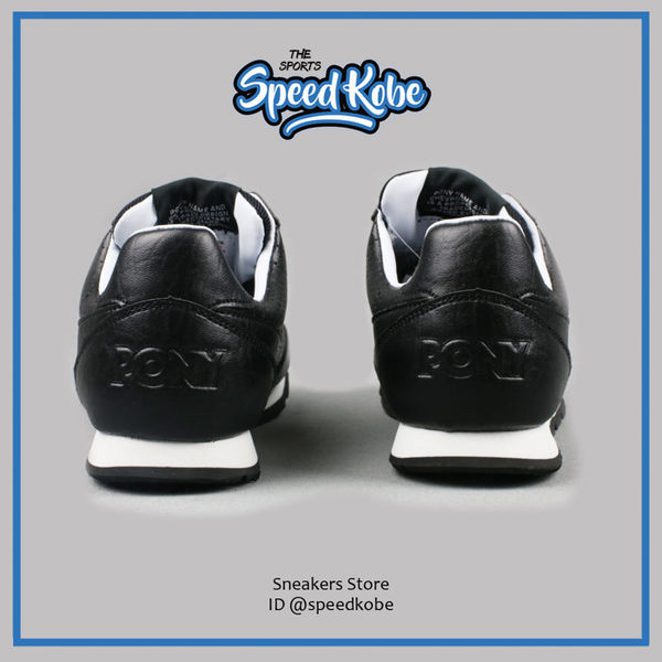 PONY SOHO 復古慢跑鞋 全黑皮革 洞洞 透氣 女 63W1SO68BK ☆SP☆