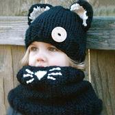 #毛帽#萌#卡通 可愛 耳朵 套頭 脖圍 針織 毛線帽【YJM-A147】 icoca
