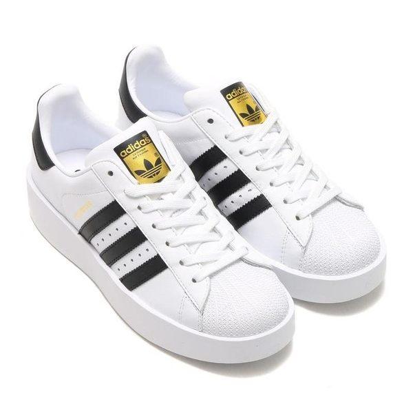 @[TellCathy 7 ]ADIDAS SUPERSTAR BOLD W-女厚底鞋 BA7666-白