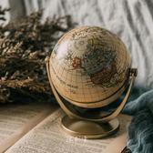 歐式復古做舊萬向英文地球儀居家書房擺件櫥窗陳列布景攝影道具 初見居家
