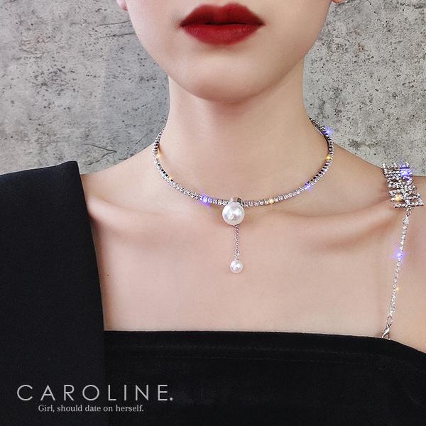 《Caroline》★韓國熱賣造型時尚 Bling  Bling項鍊70734