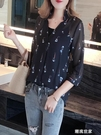 雪紡衫女2020早春季新款洋氣超仙遮肚顯瘦襯衫很仙的時尚氣質上衣『潮流世家』
