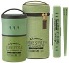 Fine style【日本代購】和式 二重真空 附提袋 立式罐570ml KCLR6