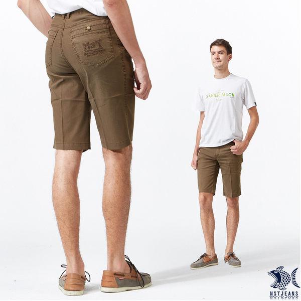 【NST Jeans】溫柔日系感 冷咖啡色 吸濕排汗休閒短褲(中腰) 395(25859) 早春商品55折起