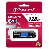 創見 Transcend JF790 128G 黑色 JETFLASH USB3.1 無蓋伸縮碟 [富廉網]