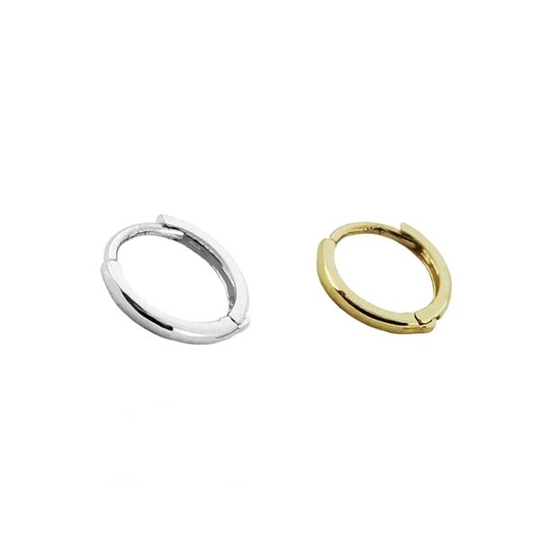 316L醫療鋼 極小弧形素面 耳環耳圈扣-金、銀 防抗過敏 單支販售