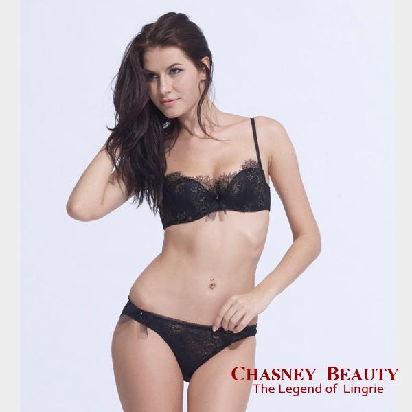 Chasney Beauty-Aerial夢幻樂曲B-D內衣(黑襯金)
