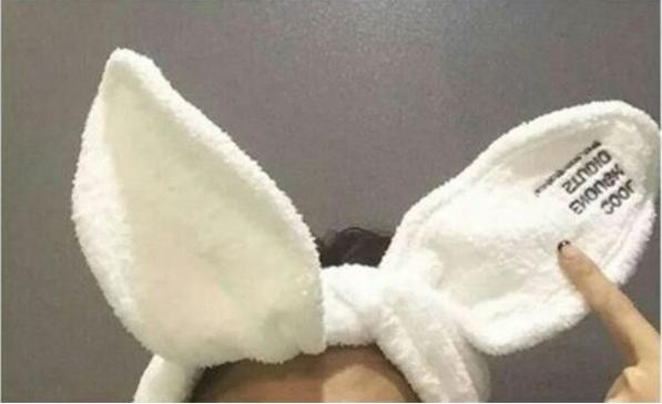 【TwinS伯澄】《兔/貓耳朵洗臉束髮帶》韓劇她很漂亮同款洗臉束髮帶束髮帶可扭絨布寬邊