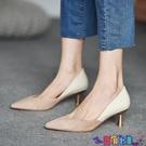 高跟鞋 高跟鞋女2021年新款百搭尖頭小香風女鞋法式細跟淺口裸色單鞋秋季寶貝計畫 上新