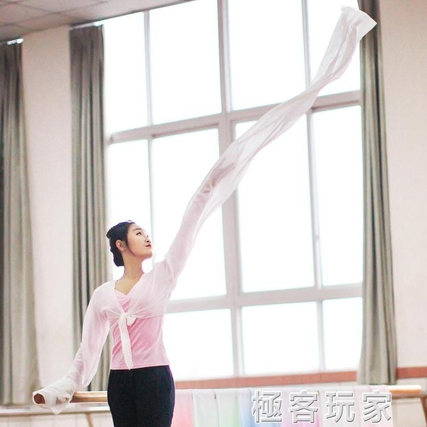 兒童藏族舞蹈服成人驚鴻舞甩袖古典舞演出服練習水袖舞服裝上衣女 極客玩家