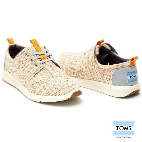 TOMS 線條織紋休閒鞋-女款(10007944   ORANGE)