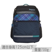 【IMPACT】怡寶歐式輕量書包-英倫格紋 黑色 IM00503BK