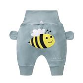 休閒高腰護肚哈倫褲 灰綠蜜蜂 褲子 童裝