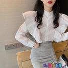 荷葉邊上衣 法式襯衫女荷葉邊設計感洋氣小眾2021秋季新款女神范百搭氣質上衣寶貝計畫 上新
