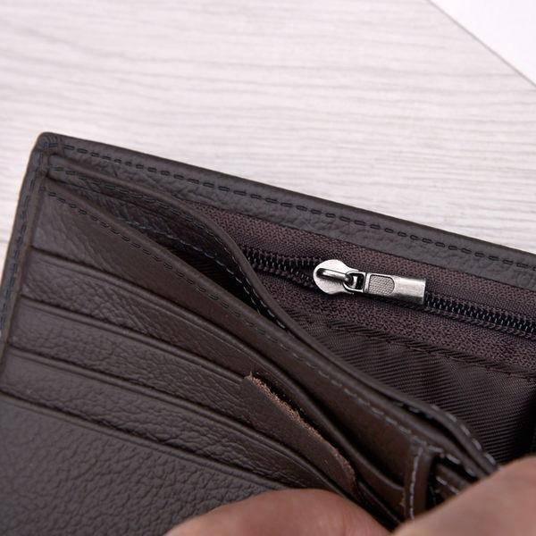 男款短夾 錢包 頭層牛皮 男士錢包 多功能真皮夾  男生短款帶扣子零錢 型男款青年三折疊錢夾