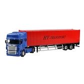 HY TRUCK華一 5012-23A集裝箱卡車/紅 工程合金車模型車 貨櫃車 聯結車(1:50)【楚崴玩具】