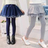 女童裙褲 假兩件秋冬裝中大童純棉長褲兒童打底褲加厚