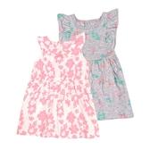 Carter s卡特 無袖洋裝+背心裙+內褲 三件組 粉葉子 | 女寶寶套裝(嬰幼兒/兒童/小孩)