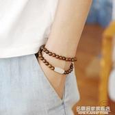 原創設計越南黃花梨木珠手串和田玉古風簡約檀香木質男女多圈手錬 名購新品