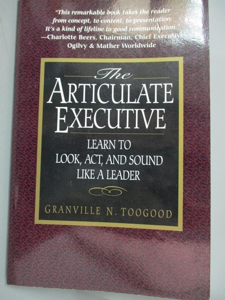【書寶二手書T6/財經企管_LQD】The articulate executive : learn to look,