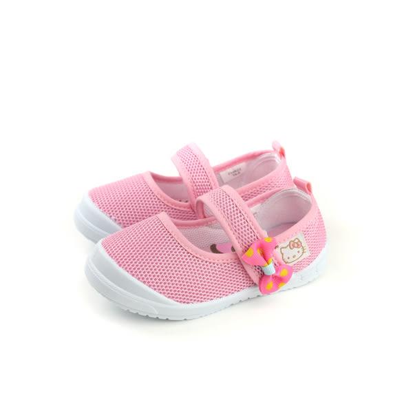 Hello Kitty 凱蒂貓 娃娃鞋 網布 粉紅 中童 童鞋 718622 no758