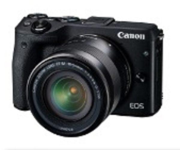 Canon EOS M3 15-45mm STM+55-200mm 雙鏡組 (公司貨) 贈64g記憶卡、保護鏡、清潔組