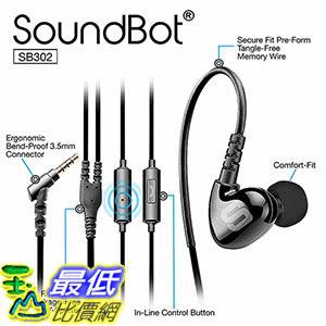 [106美國直購] Soundbot SB302 Secure Fit Sports Active Earphone Black 運動有源耳機