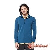 【wildland 荒野】男 POLARTEC功能上衣『帝國藍』P2608 戶外 休閒 運動 露營 吸濕 排汗 快乾 舒適