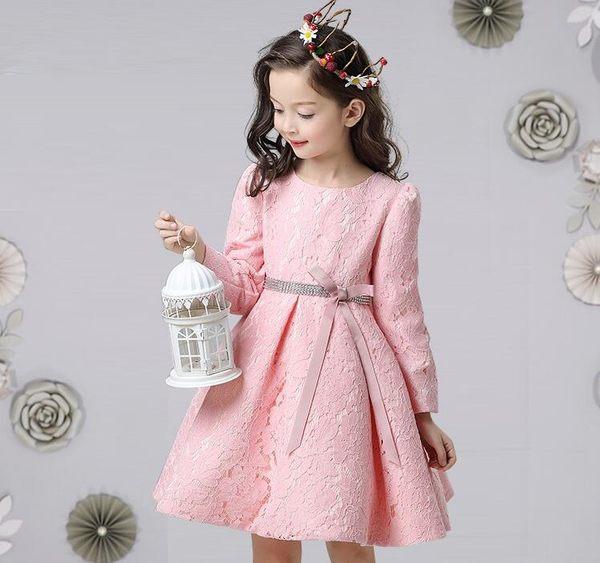 童裝女童連身裙秋冬新款裙子冬裝加絨加厚兒童禮服長袖公主裙【潮咖地帶】