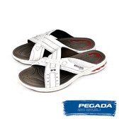 【PEGADA】巴西名品時尚運動涼拖鞋  白色(31901-WH)