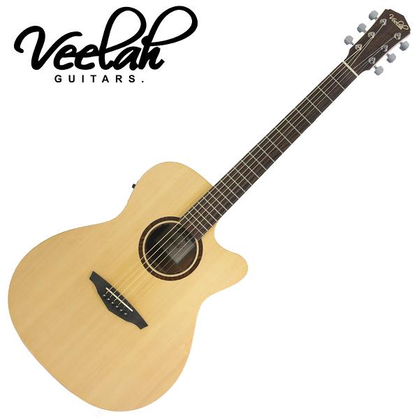【敦煌樂器】VEELAH V1-OMCE 民謠吉他/搭配知名拾音器Fishman拾音器