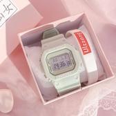 獨角獸手錶少女生ins風高中學生防水可愛超火電子錶簡約運動 青山市集
