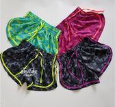 大碼跑步健身運動短褲女胖mm寬鬆無內襯單層外搭印花馬拉鬆速干褲  ifashion部落