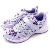 《7+1童鞋》日本瞬足 SYUNSOKU ELEJ614 輕量 透氣 運動鞋 慢跑鞋 布鞋 F258 紫色