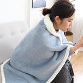 辦公室蓋腿毯加厚保暖懶人毯子披肩午休斗篷 ins少女心午睡小毛毯ATF 青木鋪子