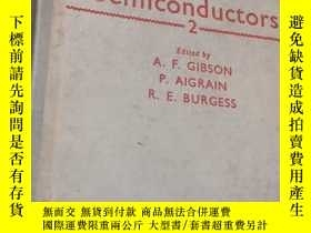 二手書博民逛書店Progress罕見in Semiconductors 2 半導