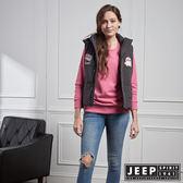 【JEEP】女裝 美式風格造型連帽背心 (黑)