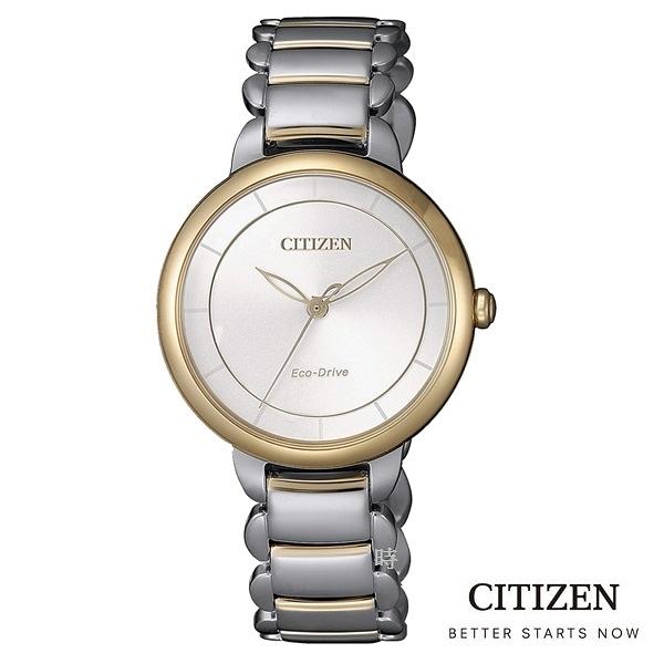 CITIZEN 星辰 (EM0674-81A) 光動能 防水 雙色 女錶/30.5mm