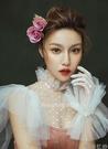 新娘婚紗禮服手工珍珠薄紗短款手套