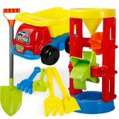玩具-兒童沙灘車玩具套裝玩沙子大號沙漏挖沙鏟子桶工具-奇幻樂園