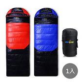 冬季睡袋~藍黑 紅黑兩色拆帽可拼接 x1入