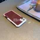 酒紅防滑背紋蘋果12手機殼蘋果x蘋果11原裝7plus新款6s軟iPhonexsmax防摔11promax時尚8plus磨砂xr 小明同學