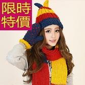 圍巾+毛帽+手套羊毛三件套-復古熱銷防寒英倫女配件63n19[巴黎精品]
