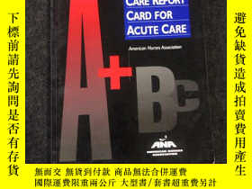 二手書博民逛書店NURSING罕見CARE REPORT CARD FOR AC