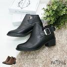 短靴 側空側扣帶率性短靴 MA女鞋 T7808