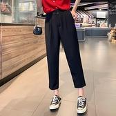 純色西裝褲女2021夏裝新款時尚褲子百搭垂感休閒褲顯瘦薄款九分褲 【端午節特惠】