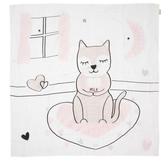 Kippins 澳洲 有機棉包巾 / 動物造型包巾 – 粉紅小貓咪 KITTY KIPPINTALE