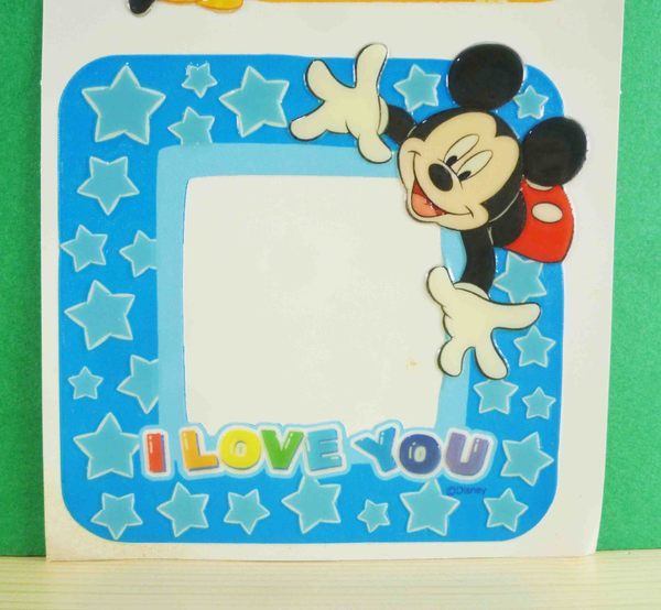 【震撼精品百貨】Micky Mouse_米奇/米妮 ~相框貼-黃藍